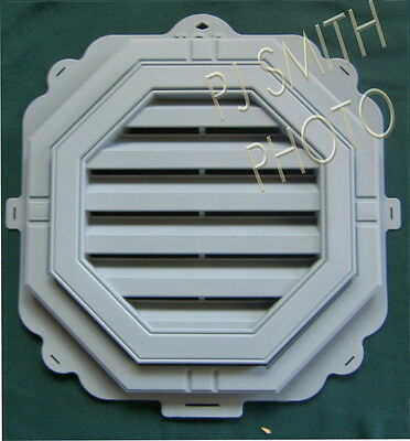 "New 18"" Economy Octagon Mystic Blue/ Victorian Slate  Gable Wall Vent"