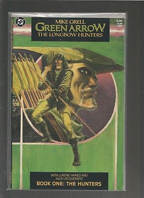Green Arrow: The Longbow Hunters #1 VF+ (Aug 1987 DC) Mike Grell COMBINE SHIP