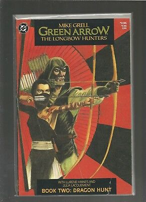 Green Arrow: The Longbow Hunters #2 VF+ (Aug 1987 DC) Mike Grell COMBINE SHIP
