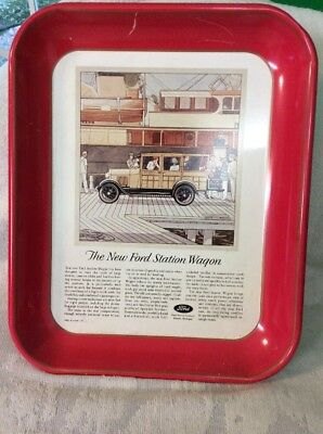 Ford 75th Anniversary Ford Station Wagon Metal Tray,