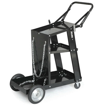 US Stock Professional Welding Cart Plasma Cutting Machine without Drawer Black
