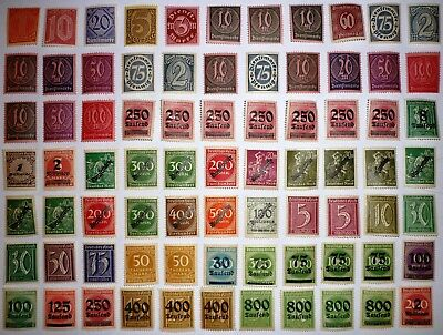 Deutsches Reich. MIXED lot INFLATION. 77 stamps. MNH. See scans.