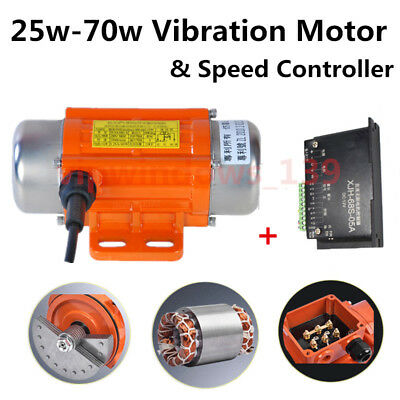 25W-70W DC Brushless Vibrating Motor Vibrator + Speed Controller Food Machinery