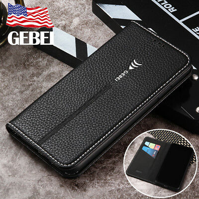 GEBEI For iPhone XS Max XR X XS PU Leather Magnetic Flip Wallet Cards Case Cover