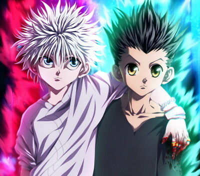 "127 Hunter X Hunter - Neferpitou Gon Killua Fight Anime 15""x14"" Poster"
