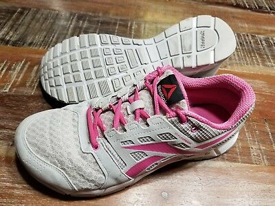 01d746d3e46 REEBOK 3D Fuse Frame Athletic Running Shoes Gray Pink Women s US Size 10