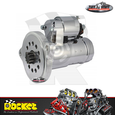 Tuff Stuff High-Torque Starter Motor CHROME (Ford Windsor/Cleveland) - TUF6551A