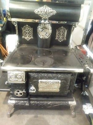Fancy Tremont Home Cast Iron Black & Nickle Cook Stove Completely Refurbished