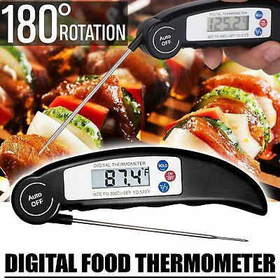 Wireless LCD Remote Thermometer For BBQ Grill Meat Kitchen Oven Food Cooking New