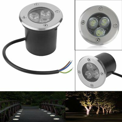 4 x 3w Spot Enterre LED Lampe Encastrable Exterieur Jardin Terrasse IP68 Set