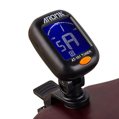 Acoustic Electric Tuner Lcd Clip Chromatic Bass Ukulele Banjo Guitar Tuner