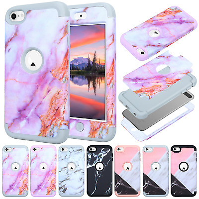 For iPod Touch 5th 6th Gen Pattern Shockproof Hybrid Rubber Hard Skin Case Cover