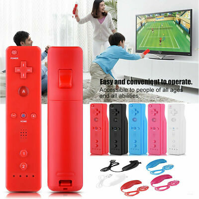 Built in Motion Plus Remote + Nunchuck Controller + Case Cover For Nintendo Wii