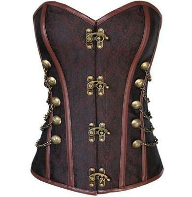 Gothic Corset Burlesque Basque Lingerie Slimming Party Dress Waist Body Tops