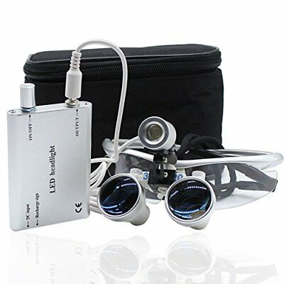 Dental 3.5 x 420 mm Magnifying Loupes  Head Magnifying Glasses with Headlamp