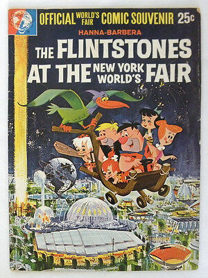 1964 The FLINTSTONES at the New York WORLD's FAIR Official NY Jetsons HIGH GRADE