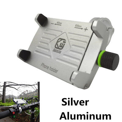 Silver CNC Motorcycle Bike Handlebar Phone Holder Suit For 3.5''-6.2''Cell Phone