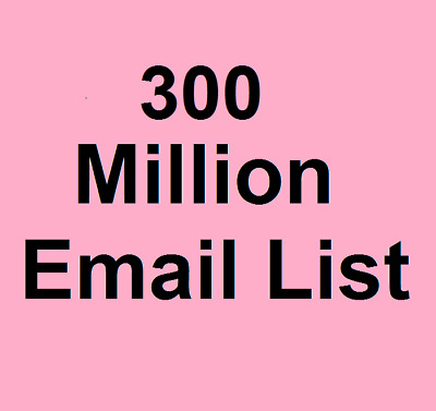300 Million Email List for Marketing and Business - Instant Email Delivery