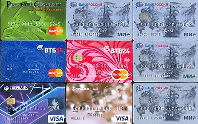 9 bank Credit cards only for collections VISA Mastercard MIR pro100 RUSSIA