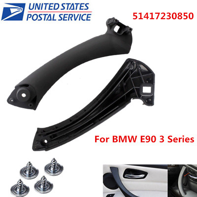 Black Right Inner Door Panel Handle Pull Trim Cover For BMW E90 3 Series F&R