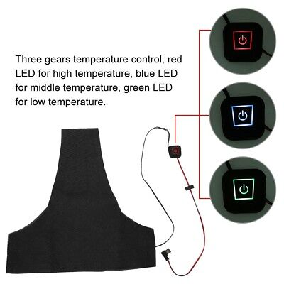 Washable Electric 5V 2A USB Heating Pad Heated Vest Jacket For Outdoor Indoor HL
