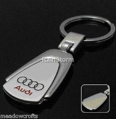 Audi Keyring NEW - UK Seller - Silver - Car Key Ring