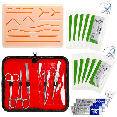 Complete Suture Practice Kit for Suture Training Large Silicone Suture Pad Tool
