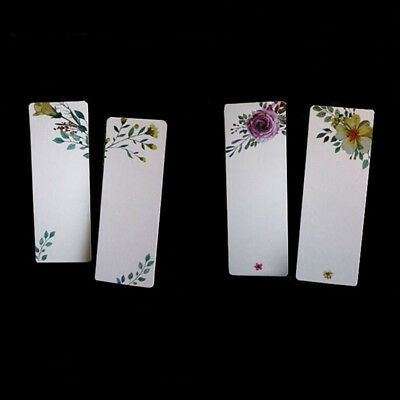 40Pcs/set Oil Painting Flower Floral Paper Blank Bookmarks Message Card Tags N7