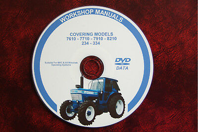 Ford 7610 7710 7910 8210 234 334  Tractor Workshop Service Repair Manual