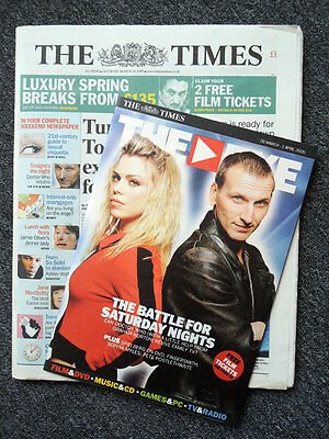 The Times Newspaper & The Eye Supplement 26 Mar 2005 . Doctor Who Returns!