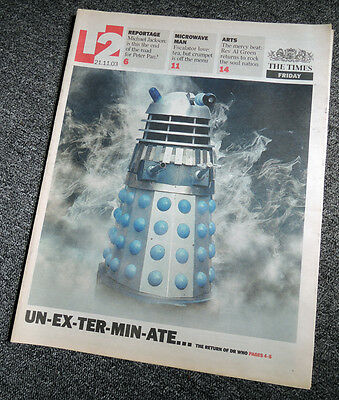 The Times T2 Newspaper Supplement 21 Nov 2003 . Doctor Who Dalek Front Cover