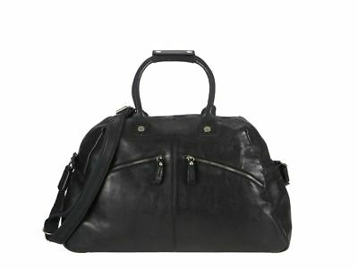 Billy The Kid Reisetasche Leder Nasty Cowboys Weekender Dufflebag Frisco schwarz