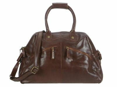 Billy The Kid Reisetasche Leder Nasty Cowboys Weekender Dufflebag Frisco braun