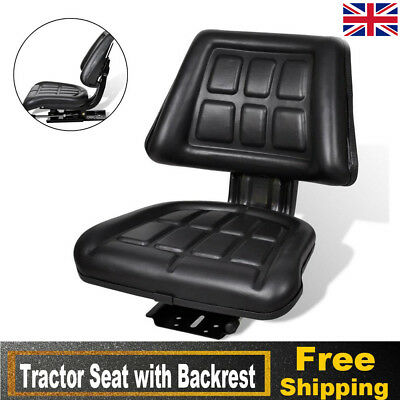Universal Tractor Seat Backrest Base Slide Track Compact Mower Seating Durable