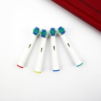 4 New Oral Action B Compatible Electric Toothbrush Replacement Brush Heads Floss