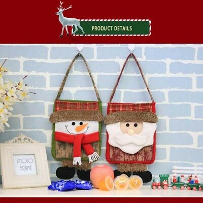 Christmas Decoration Tote Bag Candy Bag Snowman Children Gift Bag New YI