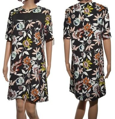 Topshop Hatty Print Band T-Shirt Dress By Boutique Short Sleeved Ladies Size 12
