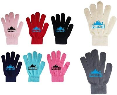 Boys Girl Teenager Fortnite Magic Gloves Ages From 3 -16 Black Navy Red Grey