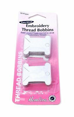 Paper Embroidery Thread Bobbins 50 Pack