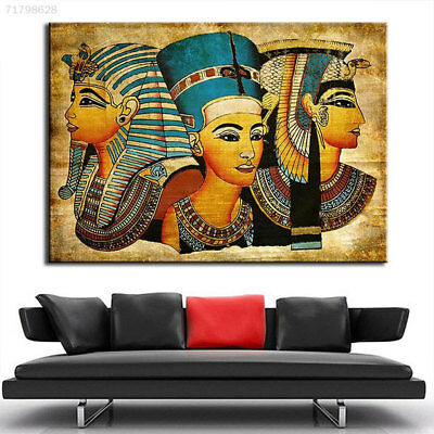 BFC7 Modern Abstract Egyptian Pharaoh Canvas Art Oil Painting For Home Decoratio