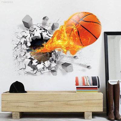 4D74 3D Basketball Removable Wall Stickers Decor Kid's Room Bedroom Mural Decals