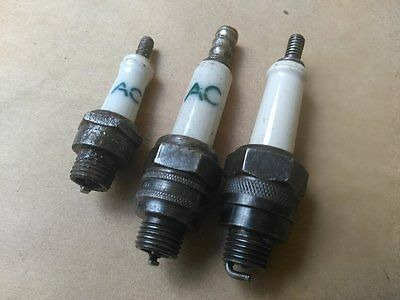 Vintage Antique Littles Spark Plug Used Lot Of 3 ..ac And Anothers