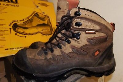 508229ec15f HYENA EIGER BROWN Leather Hiker Breathable Steel Toe Safety Boots UK 8 -  AA558