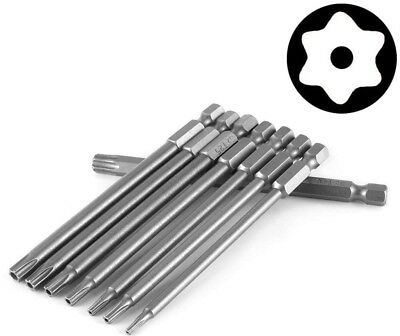Yakamoz 8pcs 100mm Length 1/4 Inch Hex Shank Magnetic Torx Security Electric