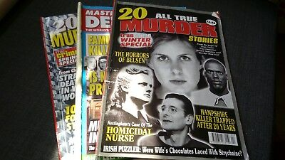 Crime Magazines All True Murder x2 & Master Detective