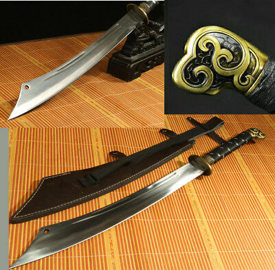 1095 High Carbon Steel Blade Handle Made Chinese Dao Sword Can Cut Tree