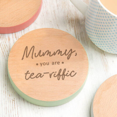 Personalised Mummy Christmas Gift Xmas Present Idea Stocking Filler Wood Coaster