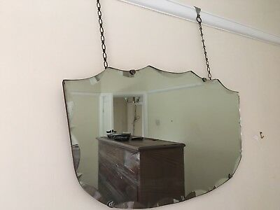 Vintage Scalloped Shape Mirror..(wall Hanging)