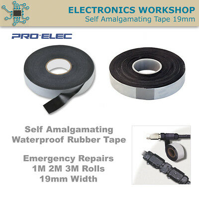 Self Amalgamating Tape Waterproof Rubber Bonding Leak Repair 19mm 1M 3M 10M Roll