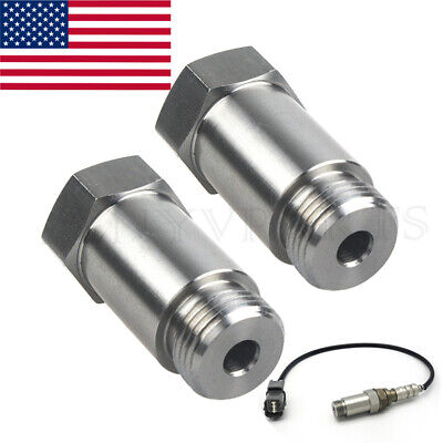 Oxygen O2 Sensor Spacer Adapter Extension Straight CEL Fix 45mm Stainless Steel
